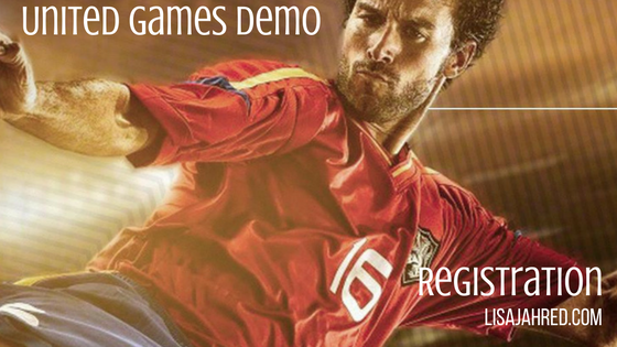Register for United Games sports app