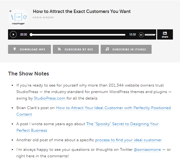 Use podcasts to get a new audience