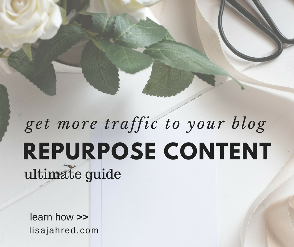 Drive blog traffic by reusing blog posts